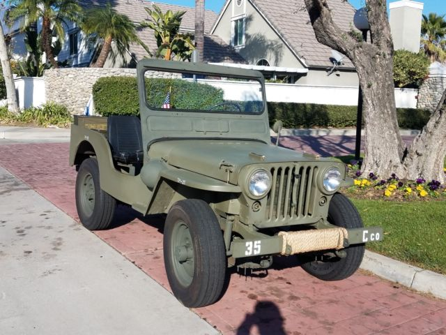 1945 Willys Jeep Modified Into M38 Mb Serial Number 1953 Hurricane Rhtopclassiccarsforsale: Jeep Willys Engine Serial Number Location At Gmaili.net
