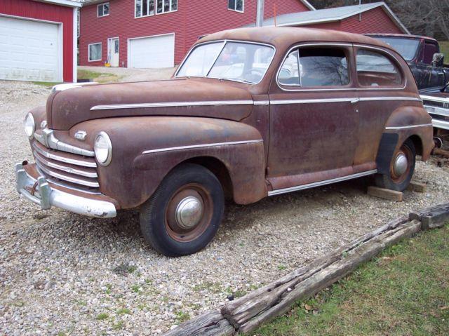 1946 46 Ford Deluxe Tudor 2 Door Sedan Barn Find Project Car