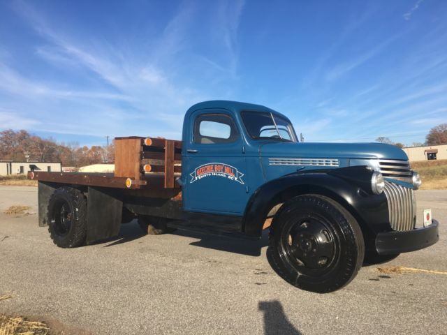 1946 Chevrolet Series 4100 Ton And A Half Flat Bed No