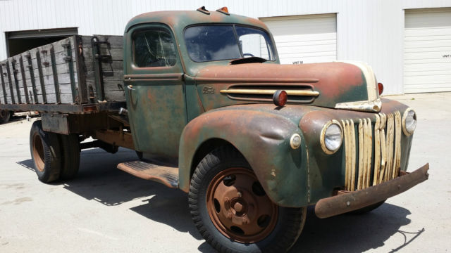 1946 ford grain stake truck rare vintage antique survivor barn find rat rod hot for sale photos. Black Bedroom Furniture Sets. Home Design Ideas