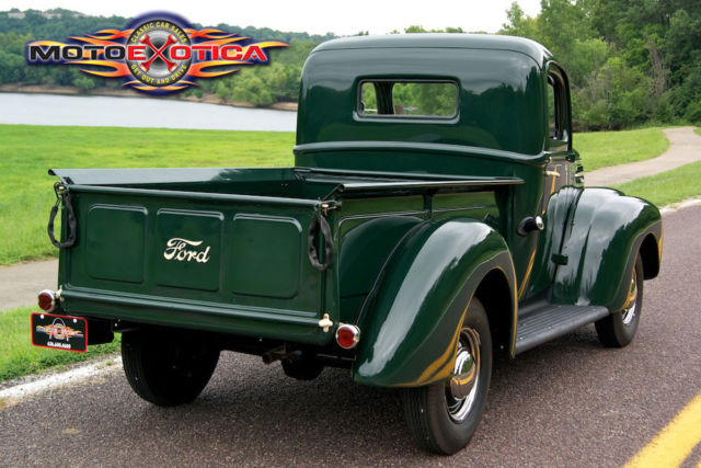 1946 ford half ton pick up truck flat head v8 restored one family owned classic for sale. Black Bedroom Furniture Sets. Home Design Ideas