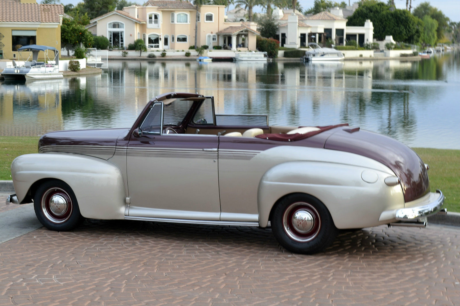 1946 Ford Super Deluxe 2 Door Convertible Custom Street Hot Rod For Sale Photos Technical Specifications Description