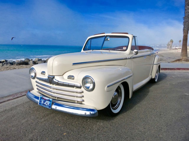 1946 ford super deluxe convertible restomod hotrod custom. Black Bedroom Furniture Sets. Home Design Ideas