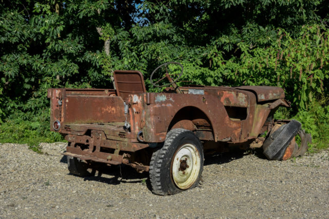 1946 Willys Jeep Cj2a Vec W   Solid Rims Very Early Production Military Mb Cj3a For Sale  Photos