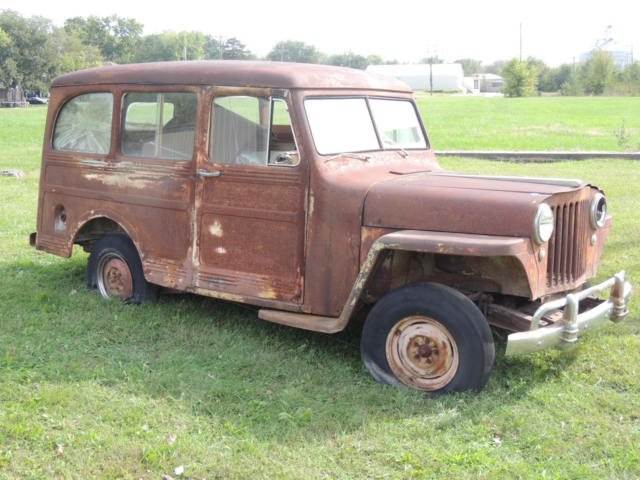1946 Willys Overland Wagon 2wd Project Extra Parts No Enginetrans