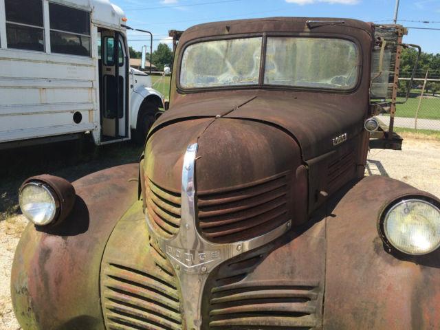 1947 Dodge Truck Wf 34 One Ton Flat Bed Ratrod Dodge