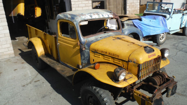 1947 dodge wdx power wagon 4x4 1 ton pickup w winch for sale photos technical specifications. Black Bedroom Furniture Sets. Home Design Ideas