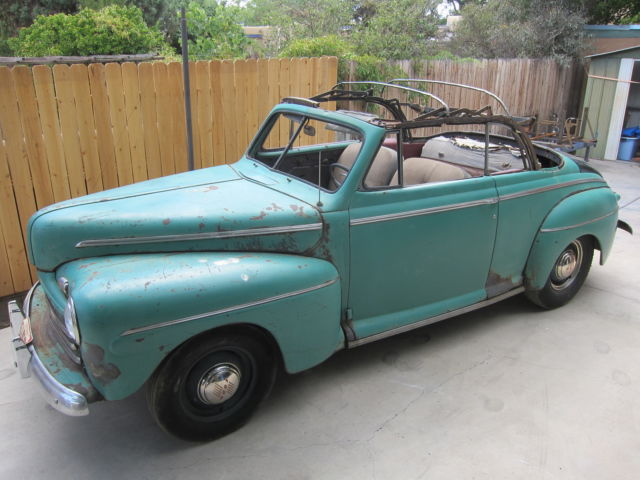 1947 ford convertible with extra parts 1946 1948 1932 1934. Black Bedroom Furniture Sets. Home Design Ideas