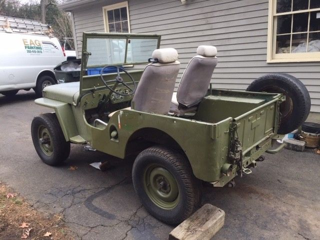 1947 green Willys CJ2A