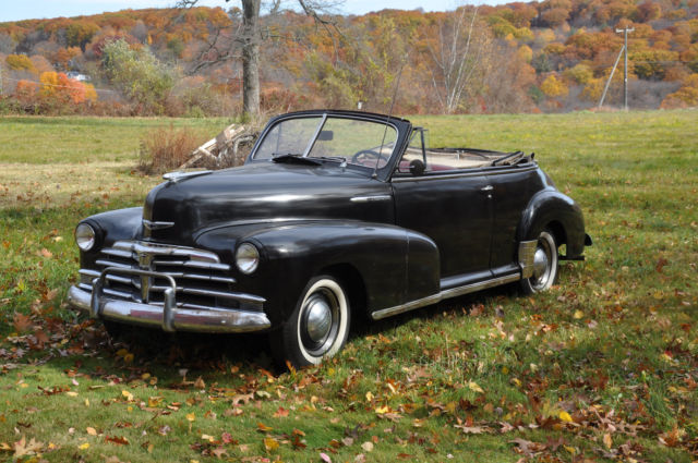 1948 chevrolet fleetmaster convertible / cabriolet unrestored