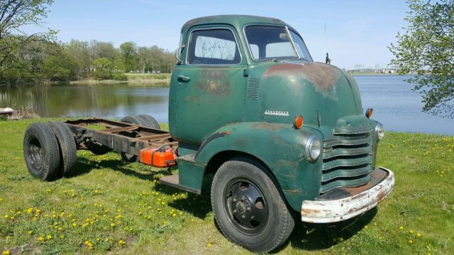 1948 Chevy Coe 5 Window Deluxe Barn Find Patina Cab Over