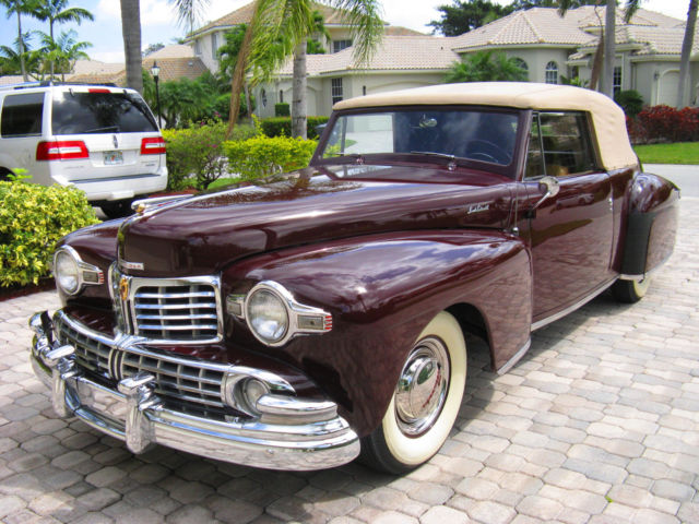 1948 Lincoln Continental Cabriolet Convertible 2 Door