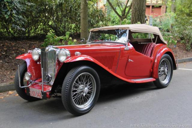 1948 MG T-Series TC Roadster. Excellent! See VIDEO.