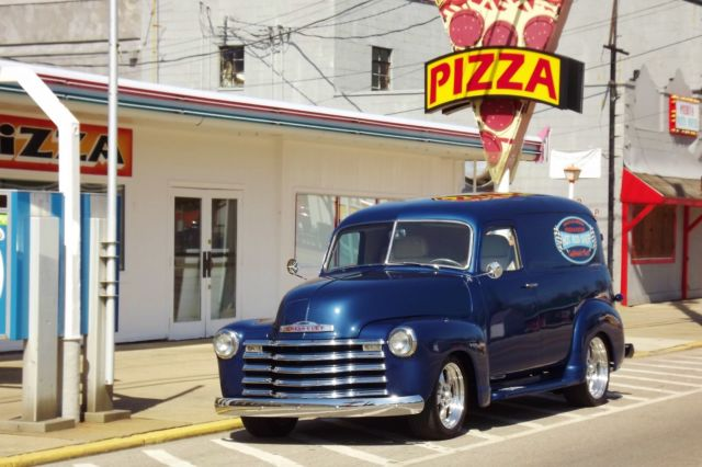 1948 DEEP BLUE MET Chevrolet Other Pickups HOT ROD DELIVERY RARE PANEL DELIVERY with MULTI TONE CUSTOM BEIGE interior