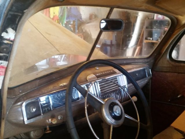 1948 Black Plymouth P15 Business Coupe with Tan interior