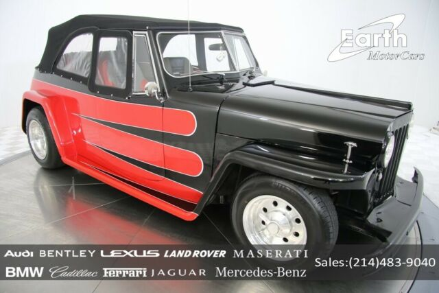 1948 Red Willys 439 SUV with Black interior