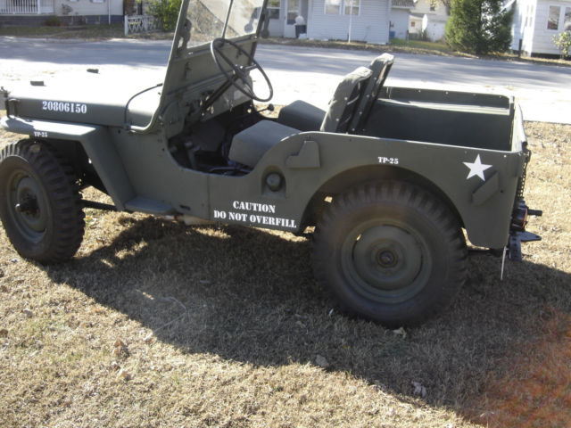 1948 willys jeep cj2a like m38 with a pto out the back