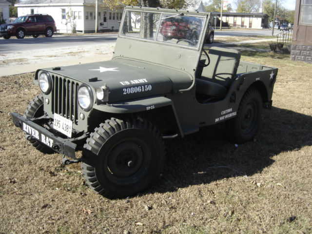 1948 olive drab Willys cj2a with olive drab interior