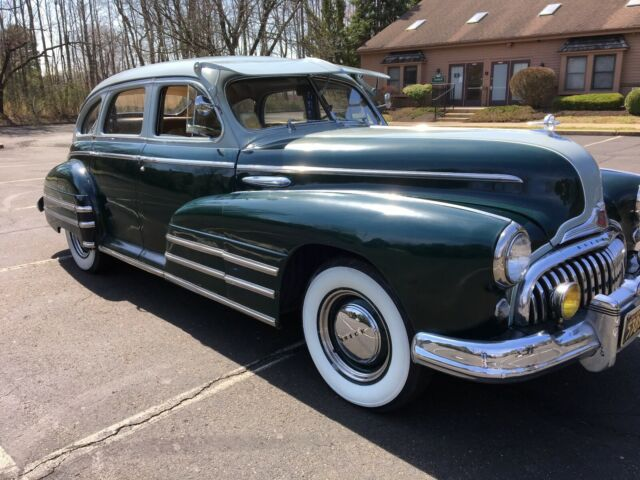 1949 Green Buick Special 40 Sedan with Tan interior