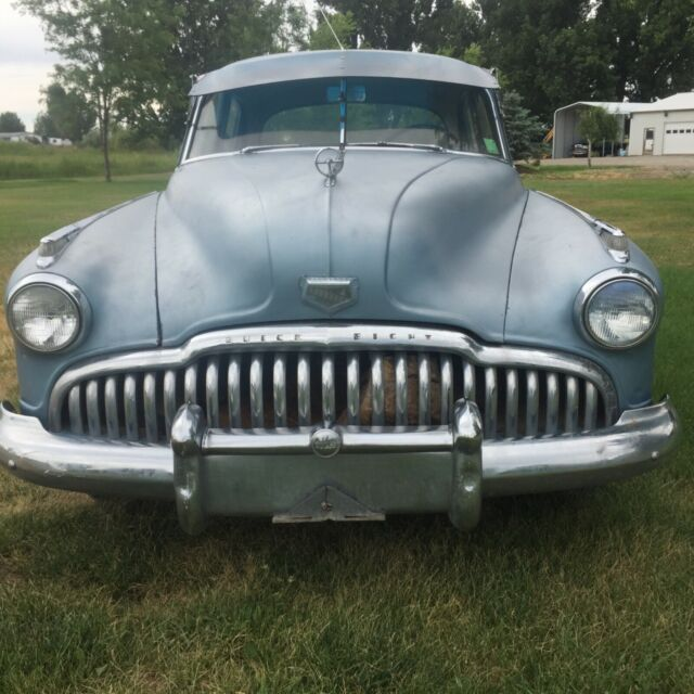 1949 Blue Buick Super Coupe with Blue interior