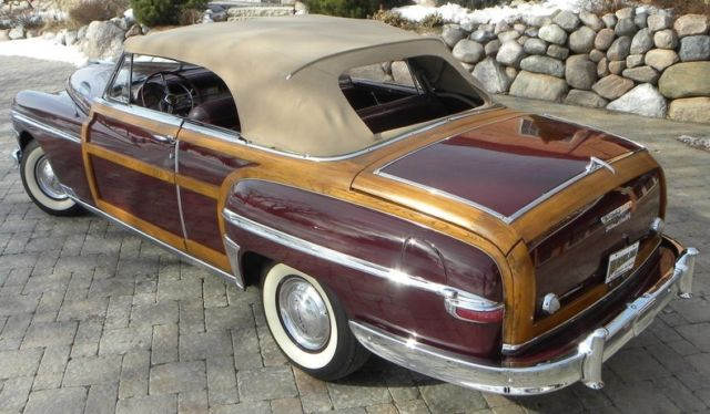 1949 Aqua Chrysler Town And Country -- with -- interior