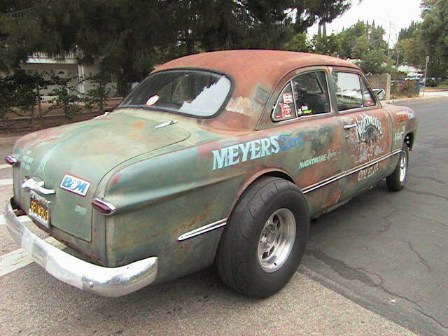1949 Green Patina Ford Shoebox 2 Door with Black interior