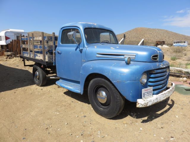 1949 Ford F3 Stake Bed NO RESERVE