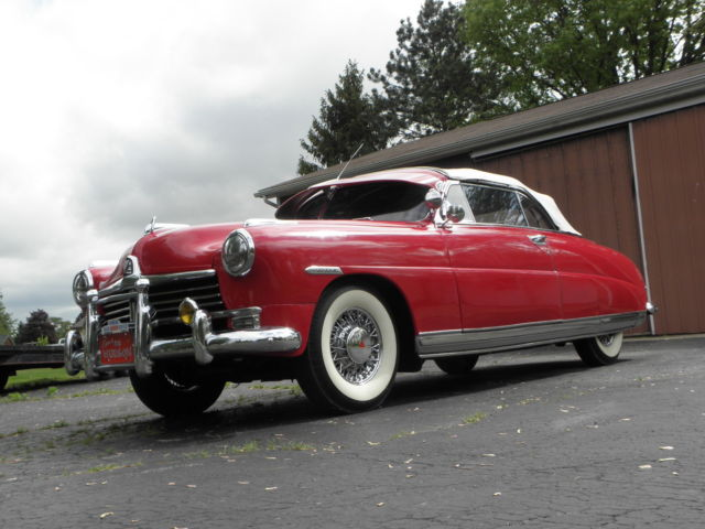 1949 Other Makes HUDSON COMMODORE SIX CONVERTIBLE BROUGHAM CHROME WIRE WHEELS