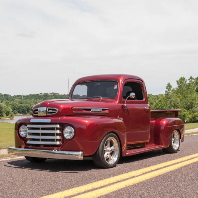 1949 Mercury M47 Half Ton Custom Pickup Truck Completely Red Build