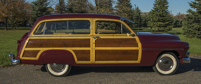 1949 Red Mercury Woody Station Wagon Station Wagon with Tan interior