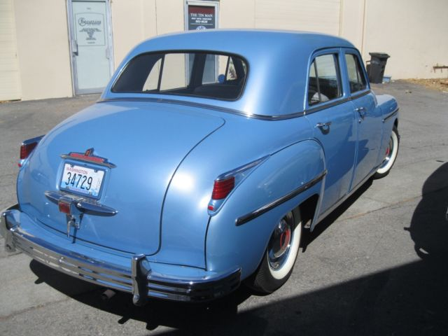 1949 plymouth blue special deluxe 4 door sedan for sale for 1949 plymouth 4 door