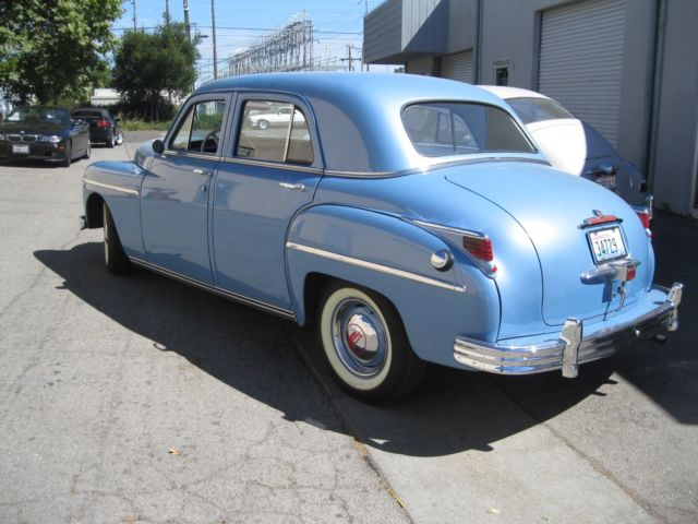 1949 plymouth blue special deluxe 4 door sedan for sale. Black Bedroom Furniture Sets. Home Design Ideas