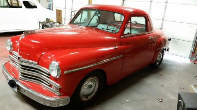 1949 Red Plymouth Other Coupe with red/white interior
