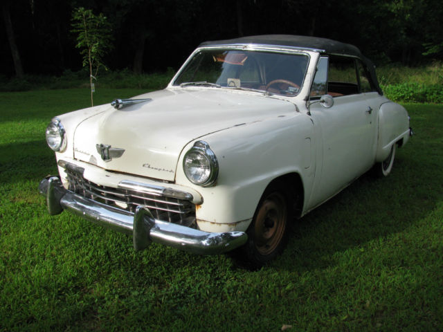 1949 Studebaker Champion Convertible for sale photos technical