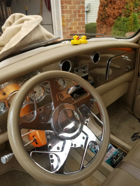 1949 Orange Studebaker M5 Standard Cab Pickup with Tan interior