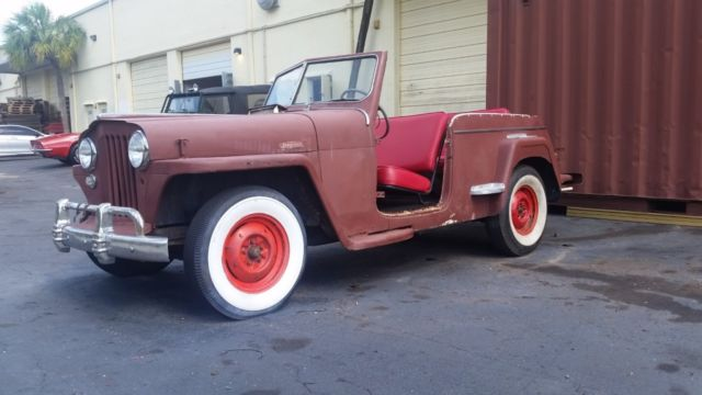1949 Willys OVERLAND JEEPSTER GREAT STARTER