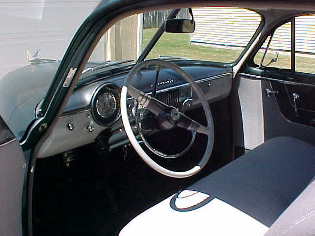 1950 Teal Green Chevrolet Bel Air/150/210 Coupe with Gray interior