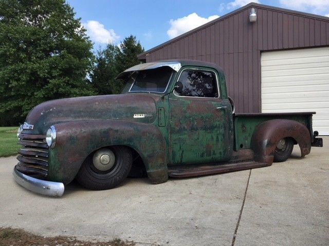 1950 Chevy 3100 LS swap signed by Gene Winfield Air Ride S10