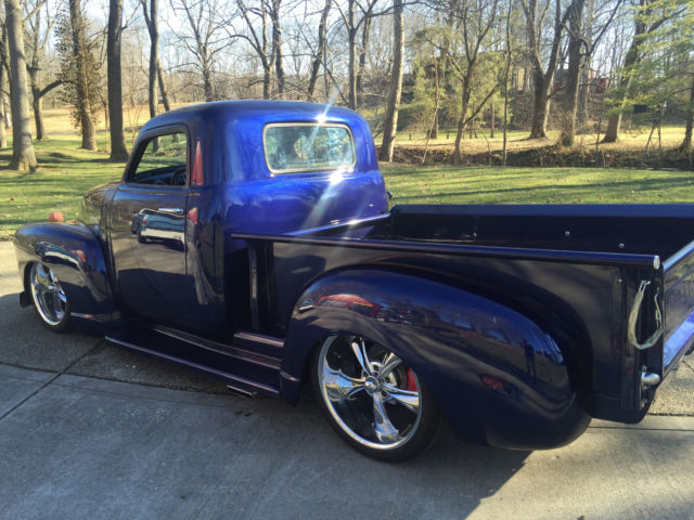 1950 Blue Chevrolet Other Pickups Single Cab Pickup Standard Cab Pickup with Brown interior