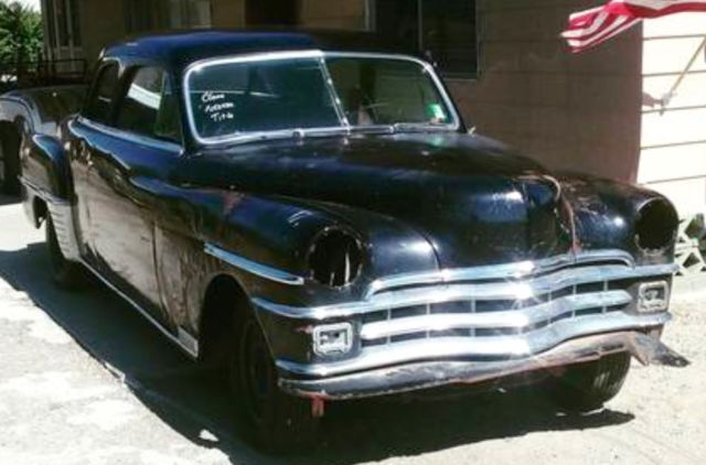 1950 Chrysler WINDSER  2 DOOR  HOT ROD PROJECT or restoration