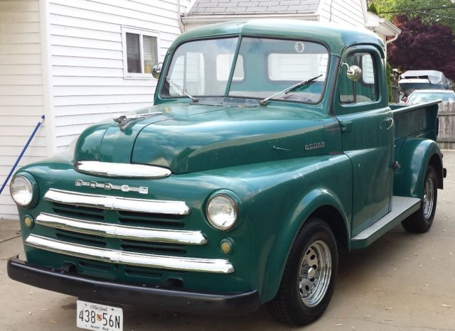1950 dodge b2b 5 window pickup pilot house rare and solid for sale photos technical. Black Bedroom Furniture Sets. Home Design Ideas