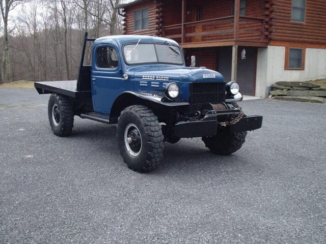 1950 Dodge Wagon Winch Truck Original W Flatbed