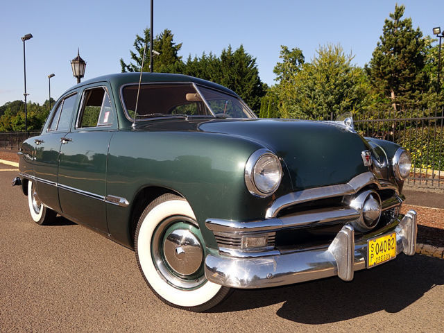 1950 ford 4 door sedan 8 cylinder 3 speed on the tree for