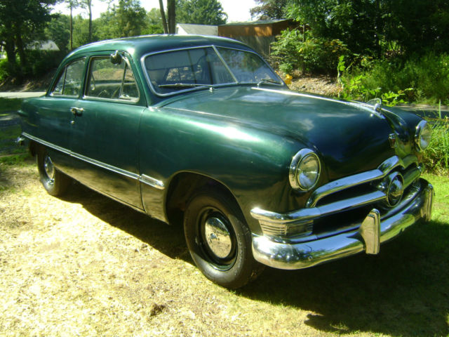 1950 ford custom dark green 2 door standard for sale for 1950 ford custom 4 door