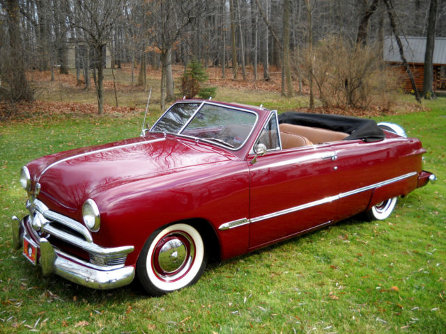 1950 Ford Custom Deluxe Convertible Show Winner Resto Mod 302 V8 Leather Turnkey