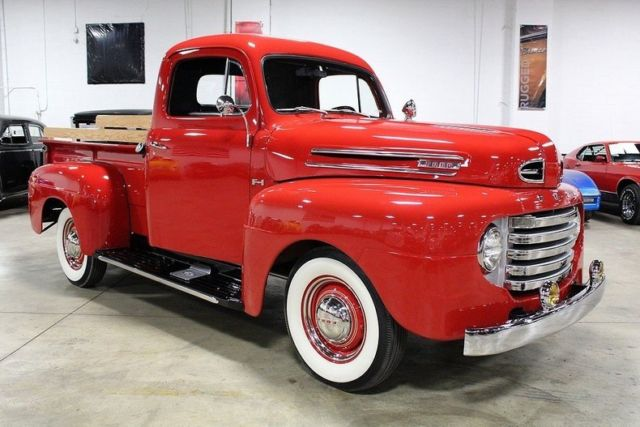 1950 Ford F1 12678 Miles Red Pickup Truck 337 V8 3 Speed