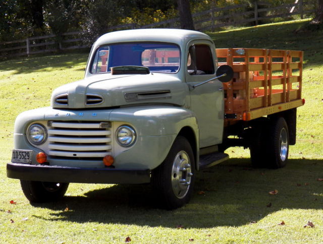1950 Ford F5 Stake Truck For Sale Photos Technical