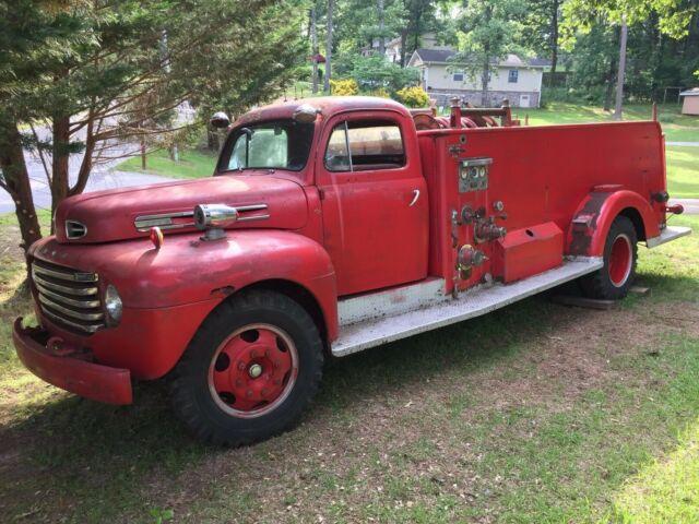 1950 Ford F7 Flathead Fire Truck Pumper for sale: photos