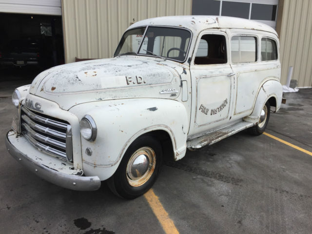 1950 gmc suburban fire truck chevrolet hot rod barnfind for sale photos technical. Black Bedroom Furniture Sets. Home Design Ideas