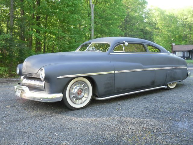 1950 Merc Chopped 2 Dr Frenched Lowered Louvered Flat Head